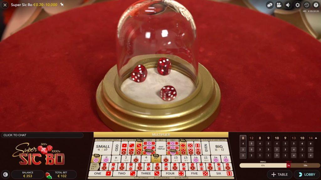 sic bo - sicbo - live dealer casino